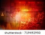2d rendering stock market... | Shutterstock . vector #719492950