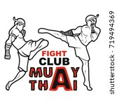image of two fighters of thai...   Shutterstock .eps vector #719494369