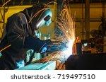 welder industrial movement weld ... | Shutterstock . vector #719497510
