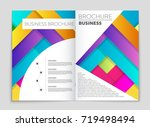 abstract vector layout... | Shutterstock .eps vector #719498494