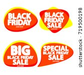 set speech bubble banners ... | Shutterstock .eps vector #719500198
