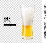 half full beer mug with cold... | Shutterstock .eps vector #719501734