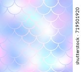pastel fish scale pattern with...   Shutterstock .eps vector #719501920