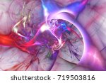 Abstract Glowing Red  Pink And...
