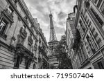 view of the eiffel tower in... | Shutterstock . vector #719507404