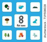 flat icon nature set of peak ... | Shutterstock .eps vector #719508028