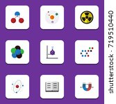 flat icon study set of molecule ... | Shutterstock .eps vector #719510440