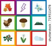 flat icon bio set of lightning  ... | Shutterstock .eps vector #719511478