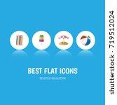 flat icon summer set of sphere  ... | Shutterstock .eps vector #719512024