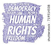 conceptual human rights... | Shutterstock . vector #719514538
