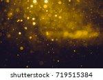 gold abstract bokeh background | Shutterstock . vector #719515384