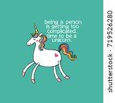 unicorn. lettering. isolated... | Shutterstock .eps vector #719526280