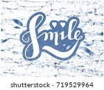 letters on background  smile ... | Shutterstock .eps vector #719529964