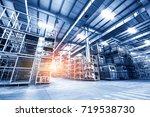 warehouse interior | Shutterstock . vector #719538730