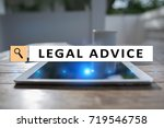 legal advice ext on virtual... | Shutterstock . vector #719546758
