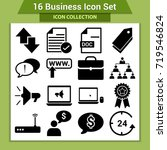 business finance icon set | Shutterstock .eps vector #719546824