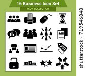 business finance icon set | Shutterstock .eps vector #719546848