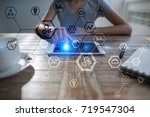 business structure diagram ... | Shutterstock . vector #719547304