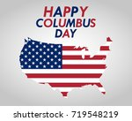 holiday in the us columbus day  | Shutterstock .eps vector #719548219