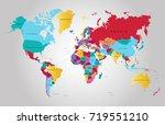 color world map | Shutterstock .eps vector #719551210
