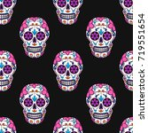 day of the dead colorful skull... | Shutterstock .eps vector #719551654
