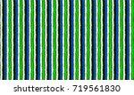 set of ethnic art brushes in... | Shutterstock .eps vector #719561830