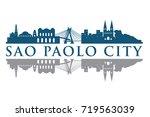sao paolo building landmark... | Shutterstock .eps vector #719563039