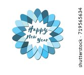 happy new year logo. template... | Shutterstock .eps vector #719565634