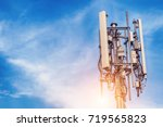 technology on the top of the... | Shutterstock . vector #719565823