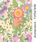 seamless pattern  background... | Shutterstock .eps vector #719567698