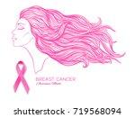 breast cancer awareness month... | Shutterstock .eps vector #719568094