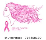 breast cancer awareness month... | Shutterstock .eps vector #719568130