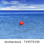 buoy at blue ocean like... | Shutterstock . vector #719575150