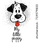 vector illustration with cute... | Shutterstock .eps vector #719579833