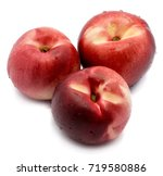 three whole white nectarine... | Shutterstock . vector #719580886