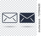 email icon flat. outline email...