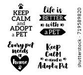 vector lettering set with... | Shutterstock .eps vector #719589820