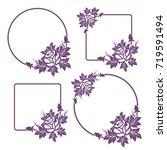 set of decorative floral frames ... | Shutterstock .eps vector #719591494