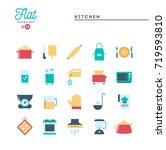 kitchen utensils  food... | Shutterstock .eps vector #719593810