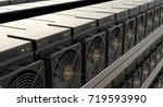cryptocurrency mining farm  3d... | Shutterstock . vector #719593990