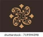 vav themed motif drawing | Shutterstock .eps vector #719594398