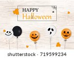 happy halloween. holiday... | Shutterstock .eps vector #719599234