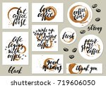 hand drawn rond  square ... | Shutterstock .eps vector #719606050