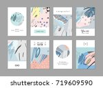 set of creative universal... | Shutterstock .eps vector #719609590