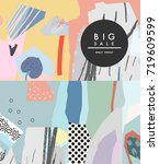 creative sale header or banner... | Shutterstock .eps vector #719609599