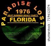 summer beach vector background... | Shutterstock .eps vector #719612374