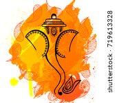 illustration of hindu god lord... | Shutterstock .eps vector #719613328
