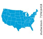 united states of america map.... | Shutterstock .eps vector #719616418