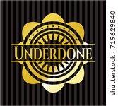 underdone golden badge | Shutterstock .eps vector #719629840