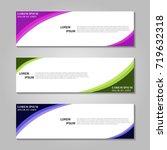 vector abstract design banner... | Shutterstock .eps vector #719632318